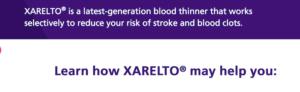 BLOOD THINNER XARELTO