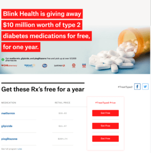 BLINK HEALTH GIVES FREE TYPE 2 MEDICATION
