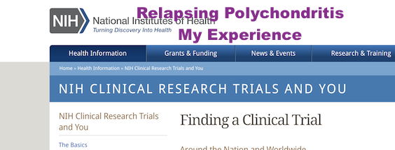 National Institutes Of Health Clinical Trial My Story