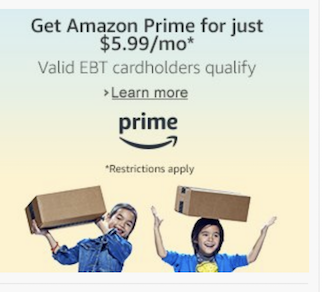 Amazon Prime Discount For EBT and Medicaid Card Holders
