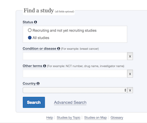 nih clinical trials. You can find a clinical trial on the government resource.